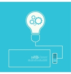 Bulb light idea with switch vector image