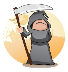 Cartoon Grim Reaper vector image vector image