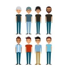 Cartoon young boys vector