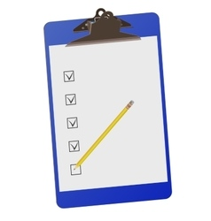 Clipboard with checklist and pencil - vector