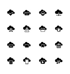 computing cloud - flat icons vector image vector image