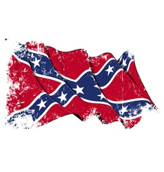 Confederate Rebel flag Grunge vector image