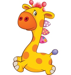 Cute Toy Giraffe Cartoon vector image