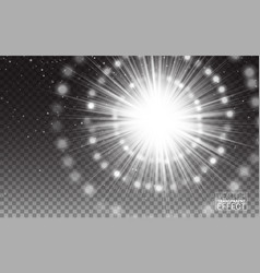 Effect white rayslight flare abstract vector