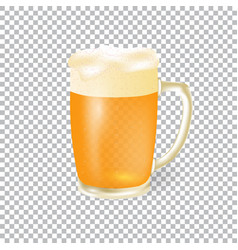 festival of beer light beer in a mug with foam vector image