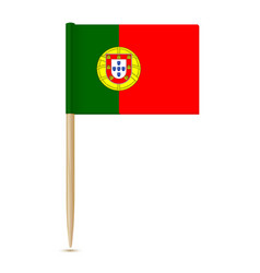 Flag of portugal toothpick vector
