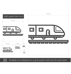 high speed train line icon vector image