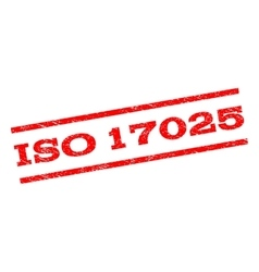 Iso 17025 watermark stamp vector