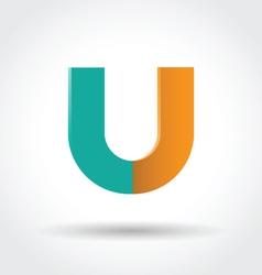 Letter u icon vector