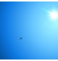 Little plane flying to the sun vector image vector image