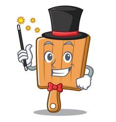 magician kitchen board character cartoon vector image