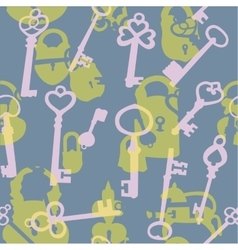 Seamless pattern with padlocks and keys vector image