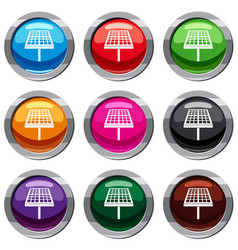 Solar energy panel set 9 collection vector