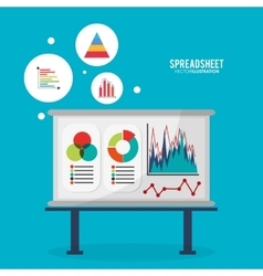 Spreadsheet board infographic design vector