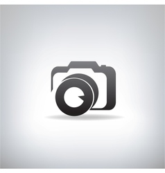 stylized photo camera vector image vector image