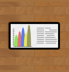 Tablet with color info chart vector