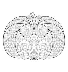 Zentangle stylized autumn pumpkin for thanksgiving vector
