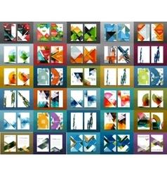 Mega set of business brochure covers vector image