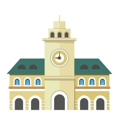 Urban city building with clock vector