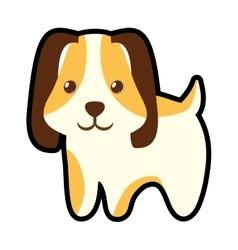 Cute puppy little pet domestic vector