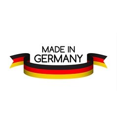 Made in germany symbol colored ribbon with the vector