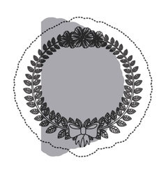 Wreath leaves ornament vector