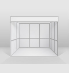 white indoor trade stand isolated with background vector image