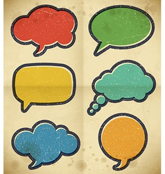 Vintage speech bubbles on the cardboard vector