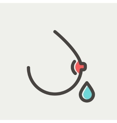 Breastmilk thin line icon vector