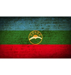 Flags karachaycherkessia with dirty paper texture vector