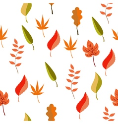 Autumn pattern leaves vector