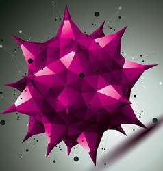 Colorful asymmetric 3d abstract object with vector
