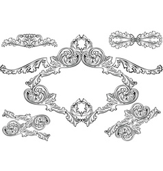 vintage barocco frames vector image