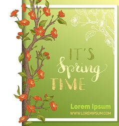Spring card template vector