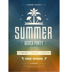 Summer holidays beach party typography poster or vector
