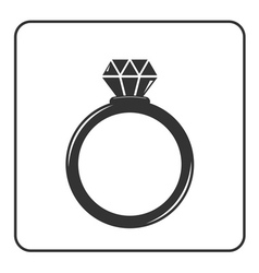 Diamond engagement ring icon 5 vector