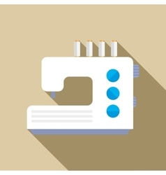 Modern sewing machine icon flat style vector