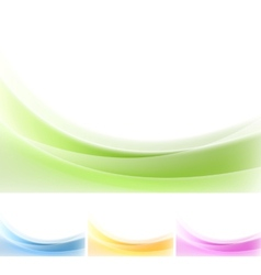 Abstract wavy backgrounds gradient mesh vector