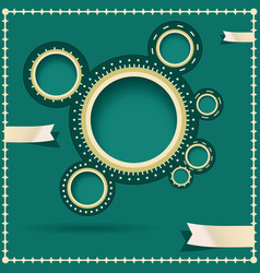 Abstract web design bubble vector image vector image