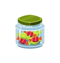 Candy In Transparent Jar vector image