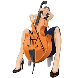 Cellist vector