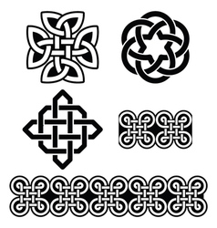 Celtic Irish patterns and knots St Patricks Day vector image