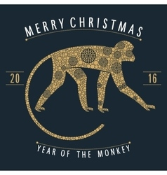 Christmas mechanical monkey vector image
