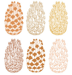 colored cone hand drawn seamless pattern vector image vector image