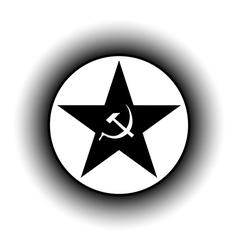 Communism star button vector