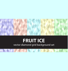 diamond pattern set fruit ice seamless vector image vector image