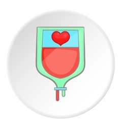 Donor icon flat style vector