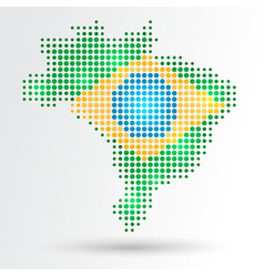 Dotted Brazil map vector image vector image