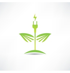 Eco green energy icon vector