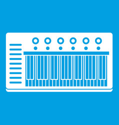 electronic synth icon white vector image